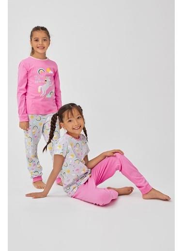 Penti Kız Çocuk Rainbow 4Lü Pijama Takımı Renkli